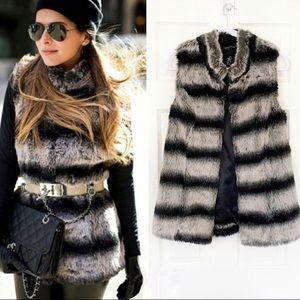Rachel Zoe Faux Fur Vest XXS